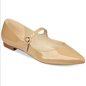 Marc Fisher Stormy Nude Patent Flats Mary Janes